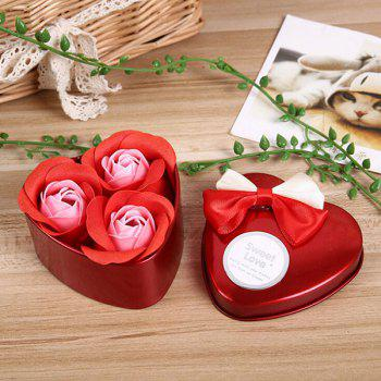 Valentine Confessions of Love Artificial Roses With Iron Box - WINE RED WINE RED