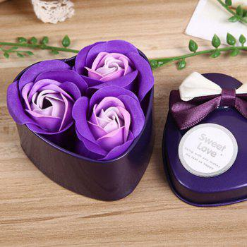 Valentine Confessions of Love Artificial Roses With Iron Box - PURPLE