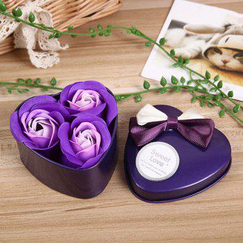 Valentine Confessions of Love Artificial Roses With Iron Box - PURPLE PURPLE