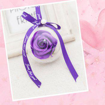 Valentine's Day Gift Single Rose Handmade Soap - PURPLE