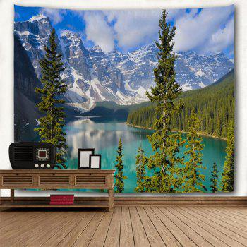 Winter Moraine Lake Printed Wall Tapestry - COLORMIX W91 INCH * L71 INCH