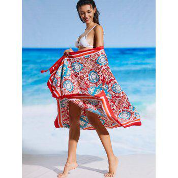 Sunbath Rectangle Tribal Print Beach Throw - COLORMIX ONE SIZE