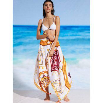 Rectangle Imprimé Tassel Sunbath Beach Jet - Floral ONE SIZE