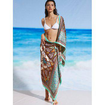 Sunbath Vintage Ethnic Print Beach Throw - FLORAL FLORAL