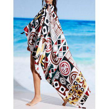 Rectangle Printed Sunbath Beach Cover Throw - FLORAL FLORAL