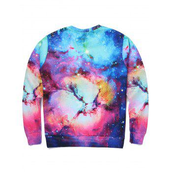 Sweat-shirt imprimé 3D en forme de lettre - multicolorcolore 2XL