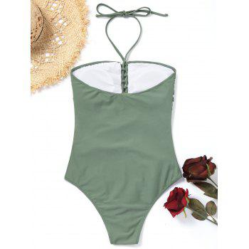 Caged High Cut Swimsuit - GRAY S