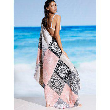 Ethnic Tribal Print Rectangle Beach Throw - FLORAL ONE SIZE