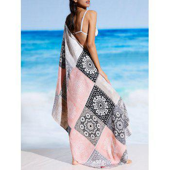 Ethnic Tribal Print Rectangle Beach Throw - FLORAL FLORAL