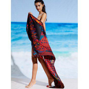 Vintage Tassel Paisley Print Beach Throw - FLORAL ONE SIZE
