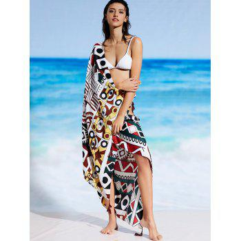 Rectangle Printed Sunbath Beach Cover Throw - FLORAL ONE SIZE