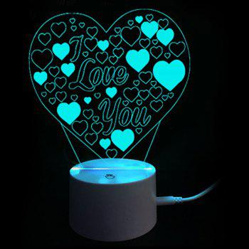 Colors Changing I Love You Heart LED Night Light Valentines Gifts - WHITE