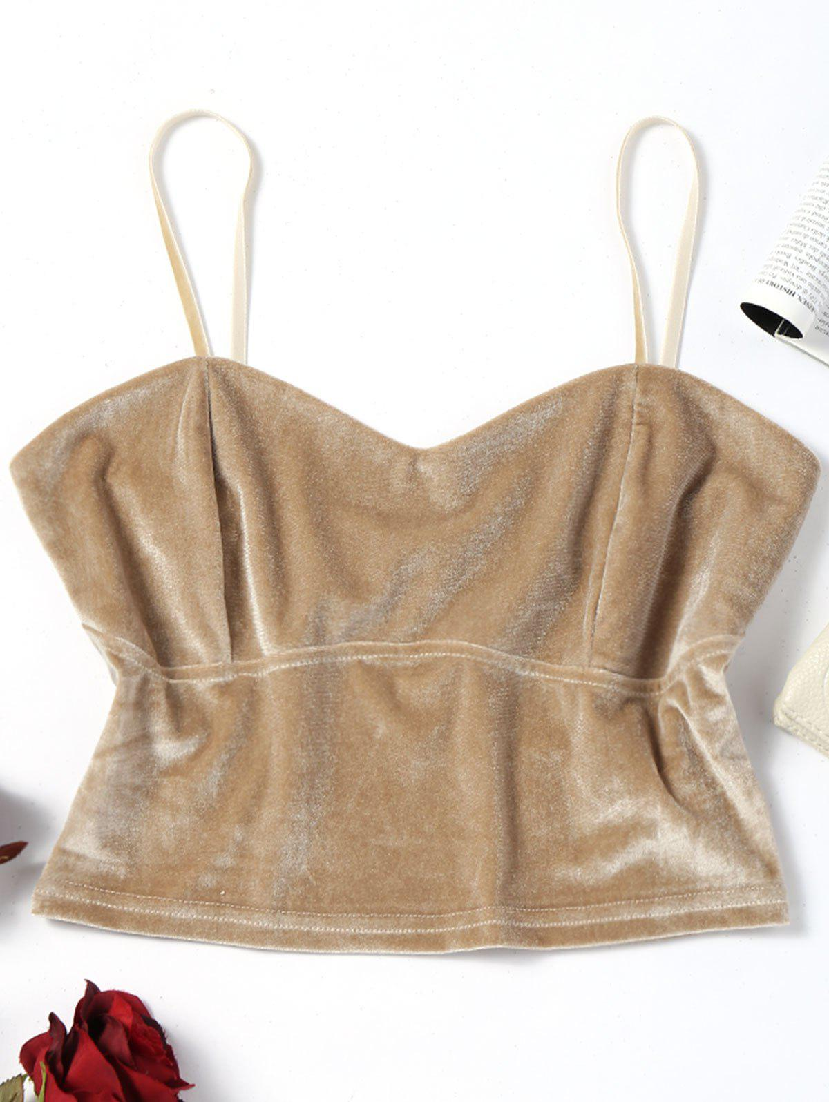Velvet Cropped Tank Top cropped wide sleeve top