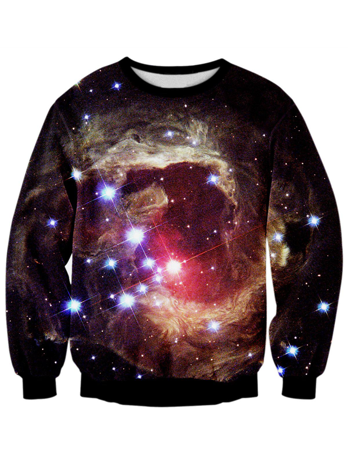 Galaxy 3D Print Starry Sky Sweatshirt sweatshirt with 3d galaxy print