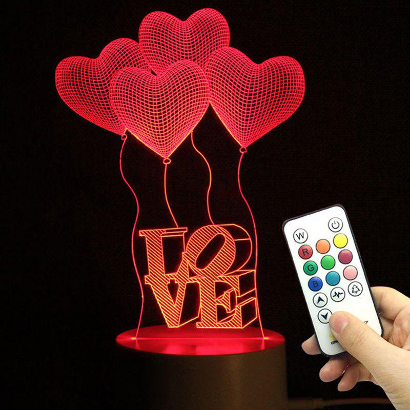Valentine Heart Ballon Pattern Love Confession Gifts Night Light valentine heart ballon pattern love confession gifts night light