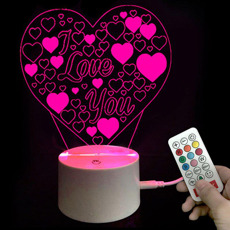 Colors Changing I Love You Heart LED Night Light Valentines Gifts bicycle lpv love promise of vow poke valentines day gifts