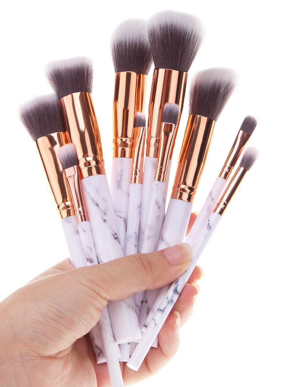 Makeup Brushes And What They Are Used For: 2018 Marble Printed Handle Ombre Hair Makeup Brushes Set