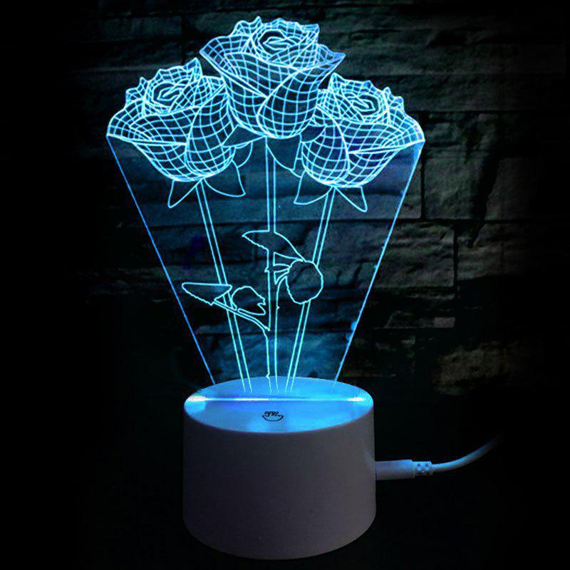 Valentine's Day Rose Confession Present LED Night Light - TRANSPARENT