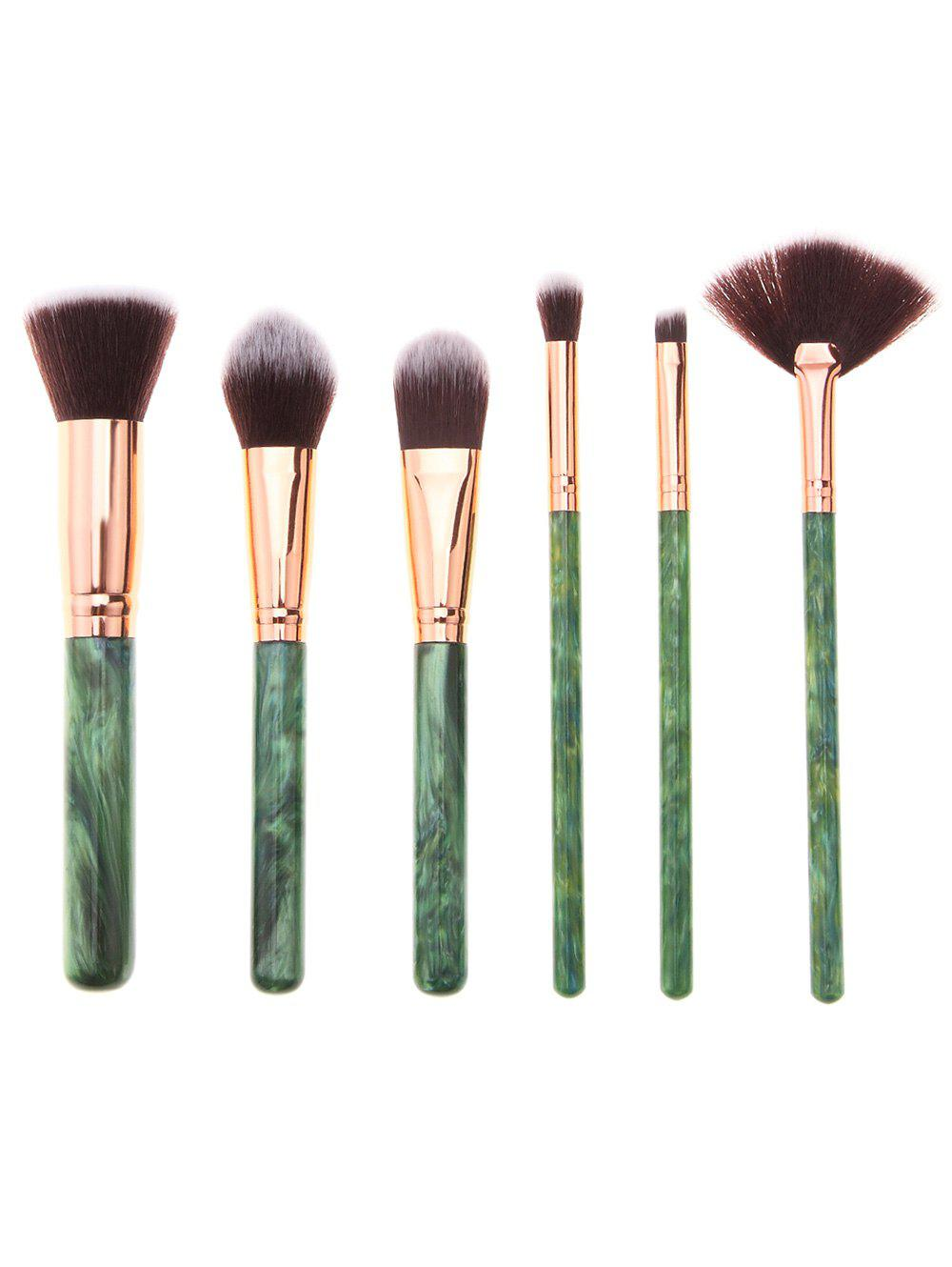 6Pcs Tree Resin Printed Handle Makeup Brushes Set brand new s262dc b32 6pcs set with free dhl ems