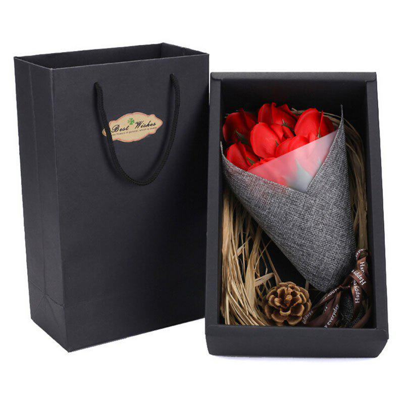 Valentine's Day Gift Handmade Soap Artificial Roses - RED