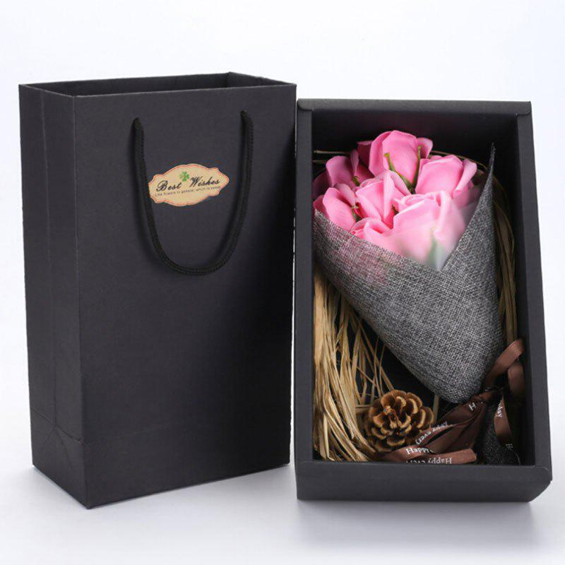 Valentine's Day Gift Handmade Soap Artificial Roses - PINK