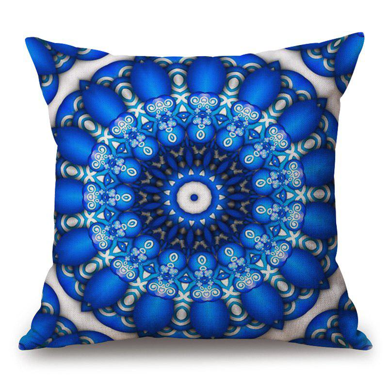 Mandala Eye Pattern Cotton Linen Throw Pillow Case