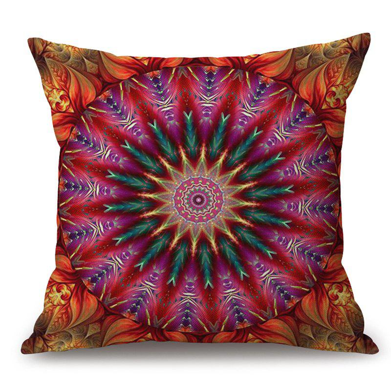 Mandala Pattern Cotton Linen Throw Pillow Case - COLORMIX 45*45CM