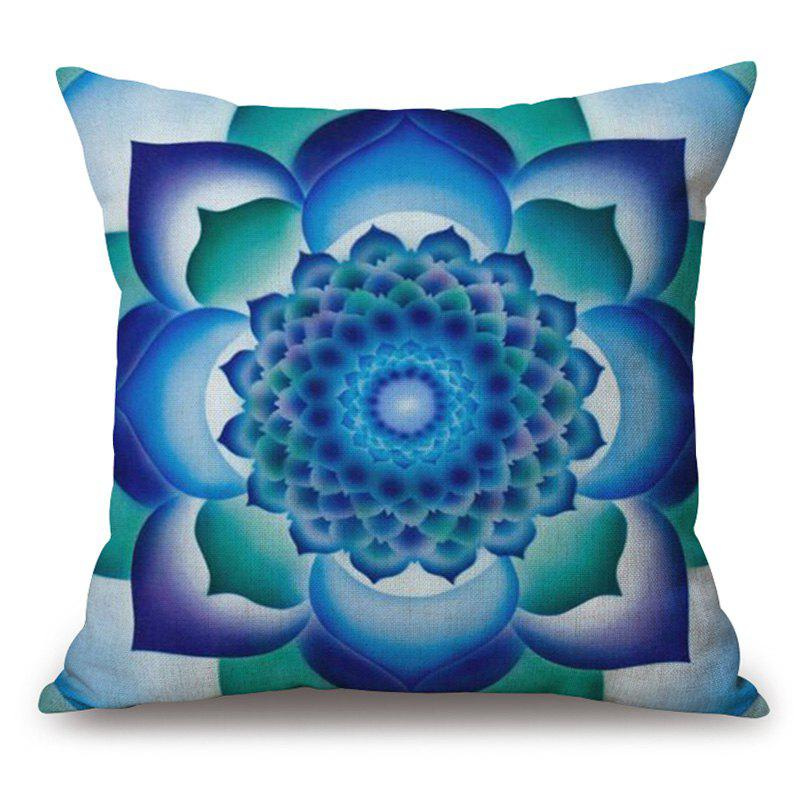 Mandala Flower Pattern Cotton Linen Throw Pillow Case 5pcs set oral clinic stainless steel photographic mirror reflector and 4pcs 2set s l double headed retractor opener dental lab