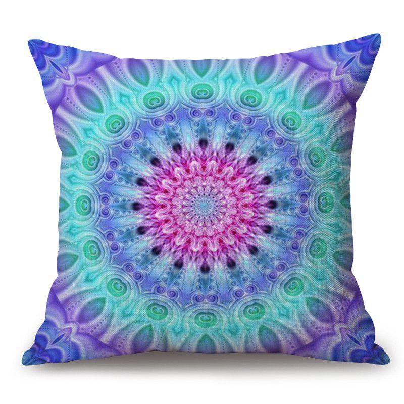 Mandala Pattern Cotton Linen Decorative Throw Pillow Case