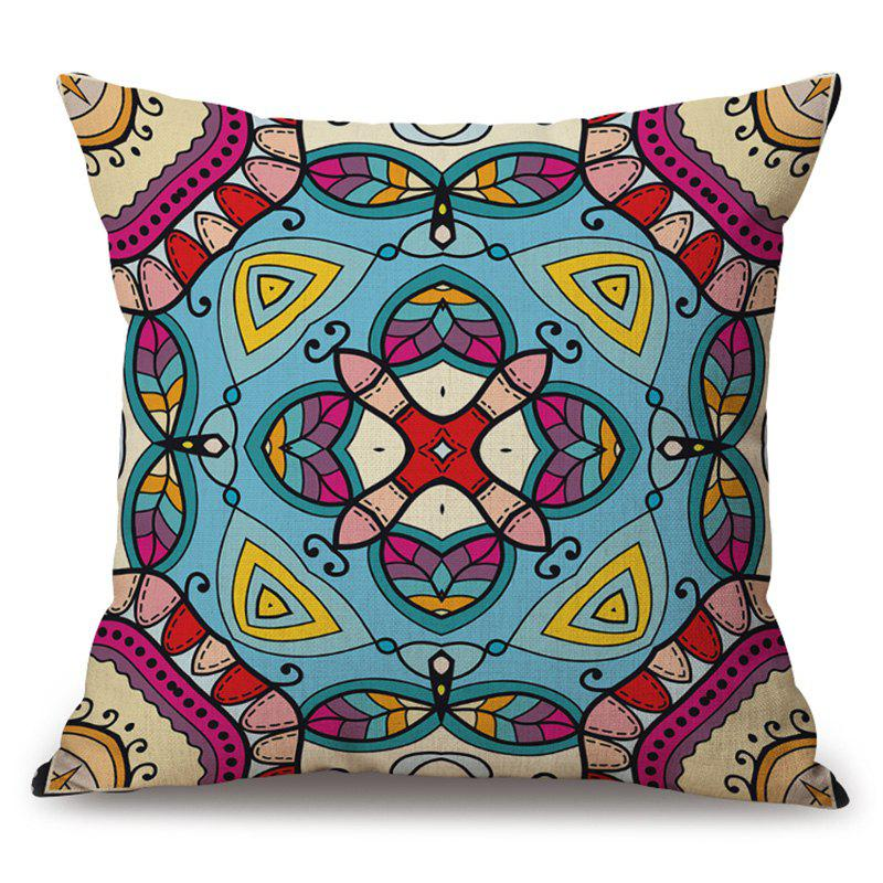 Mandala Print Cotton Linen Decorative Sofa Pillow Case - COLORMIX 45*45CM