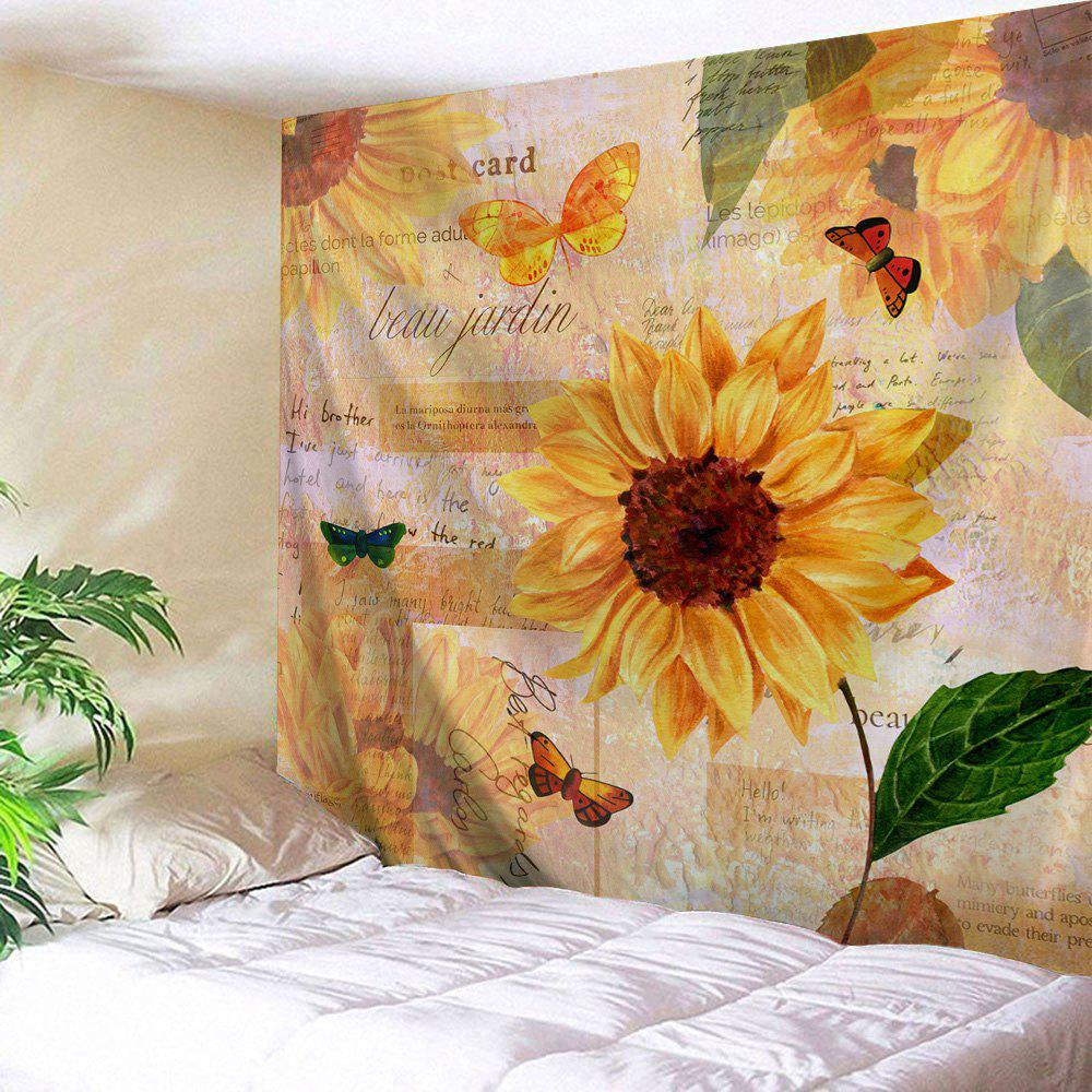 Sunflower Butterfly Printed Wall Hanging Tapestry outer space printed wall hanging tapestry