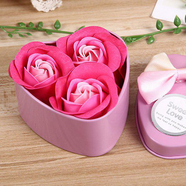 Valentine Confessions of Love Artificial Roses With Iron Box - PINK