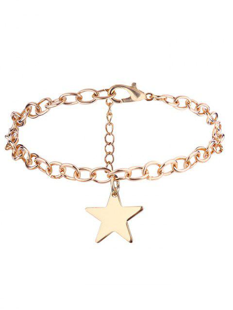 Star Chain Charm Bracelet - GOLDEN