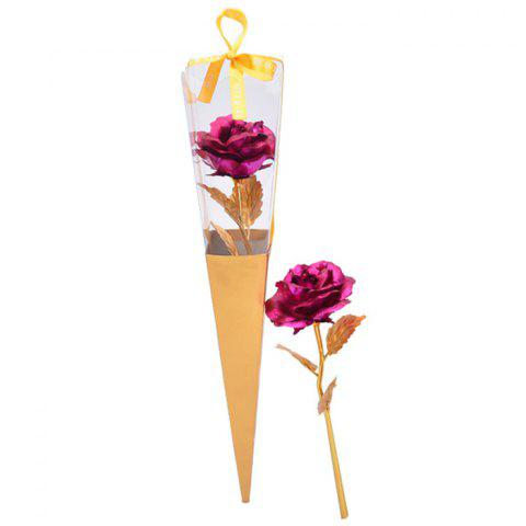 Artificial Plated Rose Flower Valentine's Gift - TUTTI FRUTTI