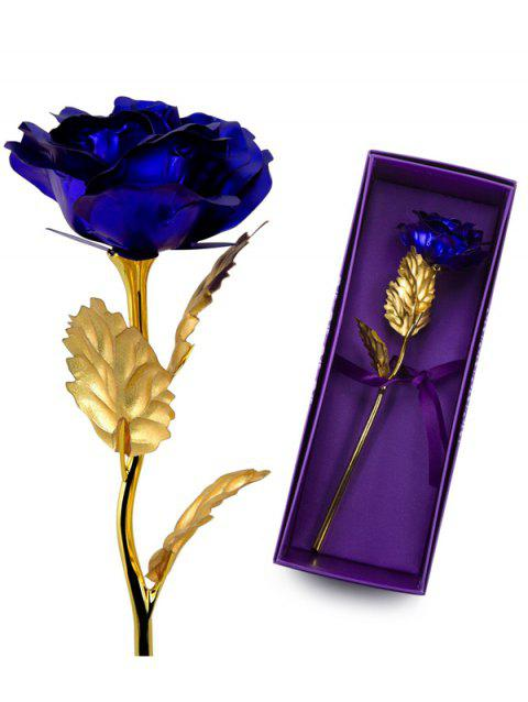 Valentine's Day Artificial Rose Flower In A Box - BLUE
