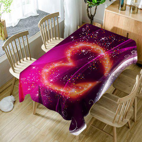 Valentine's Day Sparkling Heart Pattern Waterproof Table Cloth - PURPLE W54 INCH * L54 INCH