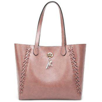 Braid 2 Pieces Shoulder Bag Set -  PINK
