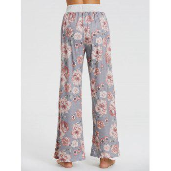 High Waisted Floral Palazzo Pants - FLORAL M