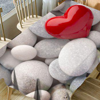 Pebbles Love Heart Pattern Waterproof Table Cloth - COLORMIX W54 INCH * L72 INCH