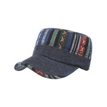 Vintage Ethnic Style Flat Top Military Hat - #04