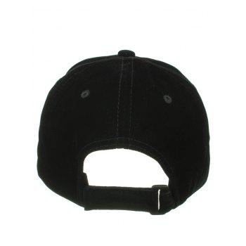 Letter W Pattern Embellished Adjustable Snapback Hat - BLACK