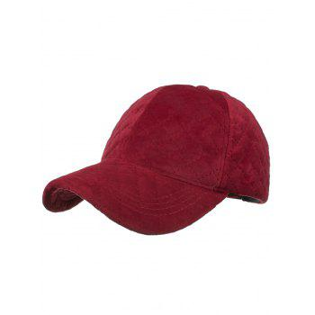 Rhombus Pattern Embroidery Adjustable Snapback Hat - RED RED