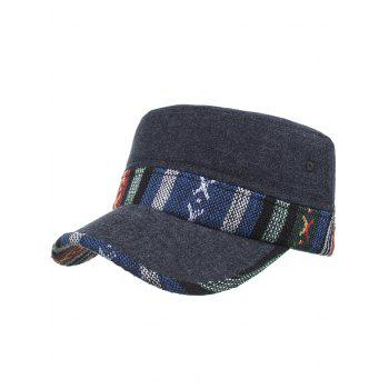 Ethnic Style Pattern Flat Top Adjustable Military Hat - #01