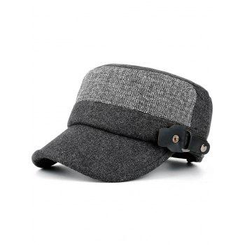 Outdoor Flat Top Button Military Hat - GRAY GRAY