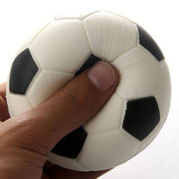 Squeeze Sport Ball Slow Recovery Stress Reliever Toy - BLACK WHITE