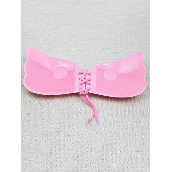 Backless Adhesive Push Up Bra - PINK CUP C