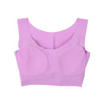 Longline Padded Comfortable Bra - PURPLE M