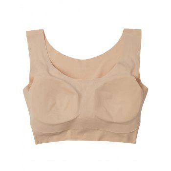 Longline Padded Comfortable Bra - COMPLEXION L