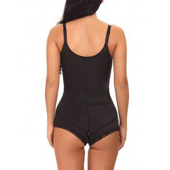 Underbust Zip Up Full Body Corset - BLACK S