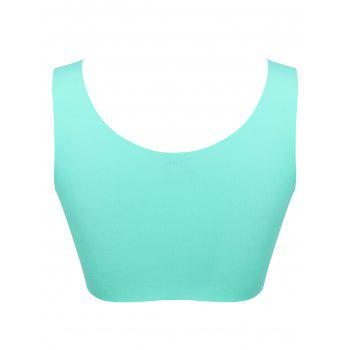Longline Padded Comfortable Bra - MARINE GREEN 2XL